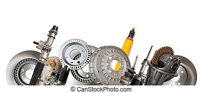 automotive parts - Borders of automotive parts Isolated on...
