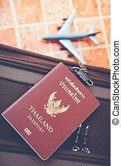 Passport, Travel or turism concept. - Thai Passport, Travel...