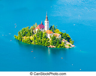 Baroque Church of the Assumption of Saint Mary on Bled...