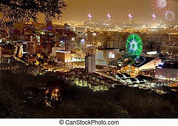 Fireworks of Taipei city