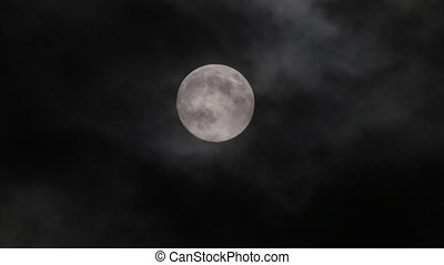 Full moon at night with cloud