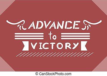 advance victory symbol design - creative design of advance...