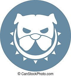 angry dog icon design - design of angry dog icon