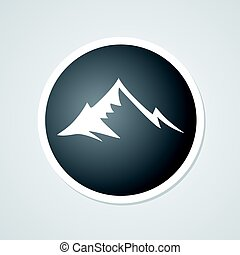 black mountain symbol design - design of black mountain icon