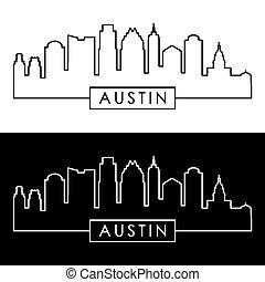 Austin skyline. Linear style.