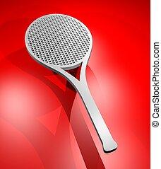 3D rendering racket