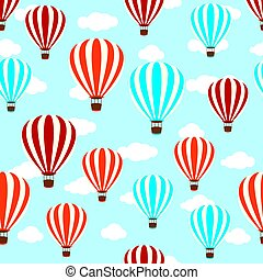 seamless hot air balloon