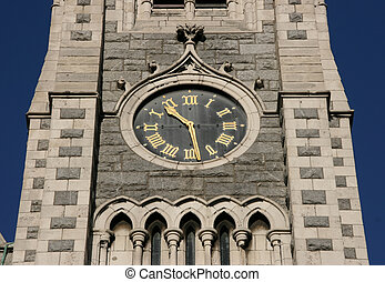Clocktower - Clock on the clocktower of Findlater's Church...
