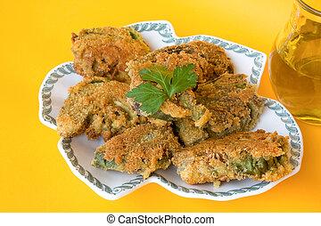 recetas, frito,  -, Alcachofas, italiano