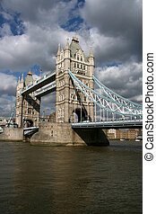 London - Tower Bridge. Famous landmark across Thames River.