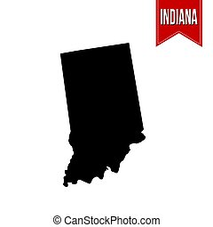 Map of Indiana on white
