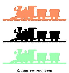 Train Silhouette vector