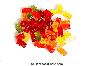 Gummy Bear Candies - Halloween treats - Colorful gummy bear...