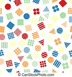 Seamless primitive geometric patterns for tissue and...