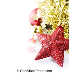 Bright christmas composition with stars - Bright christmas...