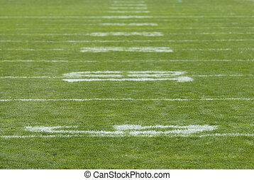 Football Field Numbers - Yardage numbers on football field...