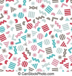 Seamless primitive geometric patterns for tissue and postcards