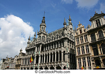 Bruxelles - Famous building: Maison du Roi The Kings House...
