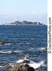 Gunkan jima (battleship island) in Nagasaki, Japan
