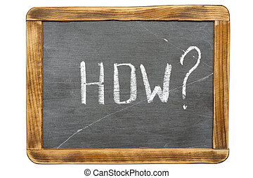 how quest fr - how question handwritten on vintage isolated...