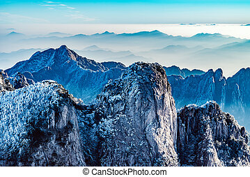 Colorful peaks of Huangshan National park. China.
