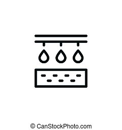 Irrigation line icon isolated on white. Vector illustration