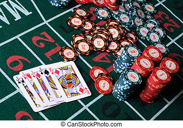 Place a poker player