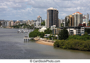 Brisbane, Australia - Apartment buildings in Brisbane,...