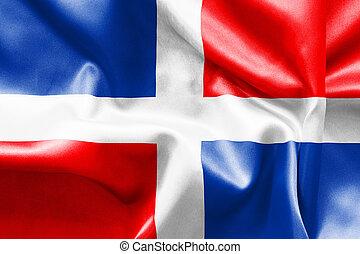 Dominican Republic Flag - Dominican Republic flag texture...