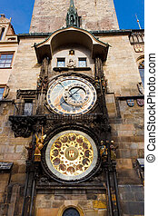 Fascinating old Prague Astronomical Clock -Prague Orloj -...
