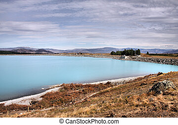 Pukaki lake in New Zealand HDR photo