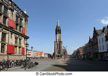 Church tower of Delft