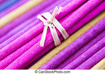 Aroma background - Macro background of aroma incense sticks...