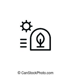 Greenhouse line icon isolated on white. Vector illustration