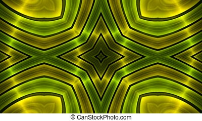 green flower metal background