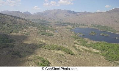 Aerial view Killarney National Park on the ring of kerry,...