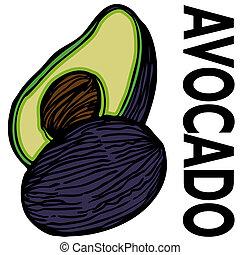 Avocado - An image of a avocado.