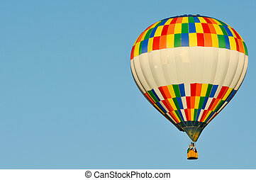 Hot Air Ballon with Copy Space Left