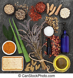 Herbs and Ingredients for Skin Disorders