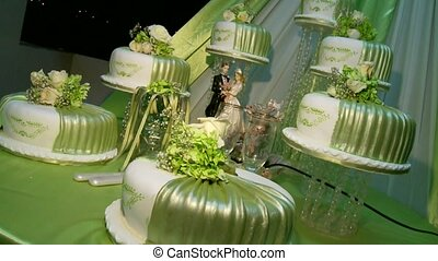Wedding Cake with Decoration - Big Wedding Flan