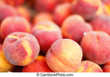 Peaches - A pile of fresh peaches