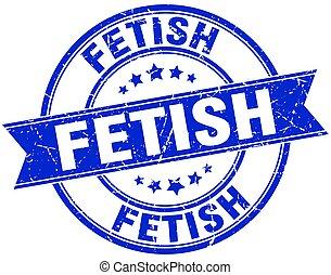 fetish round grunge ribbon stamp