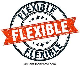 flexible round grunge ribbon stamp