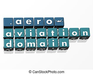 3D Domain Crossword text on white background