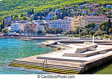 Town of Opatija waterfront view, tourist destination in...
