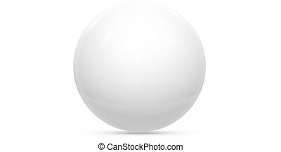 Realistic White Ball or Sphere. Vector illustration