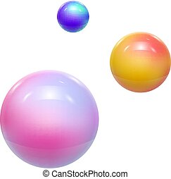 Abstract Colorful Balls or Spheres. Vector illustration