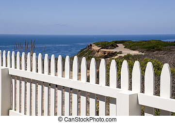 Fence at Point Loma in San Diego