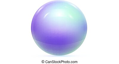Realistic Pearl Ball or Sphere. Vector illustration
