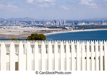 Fence at Point Loma in San Diego, California.